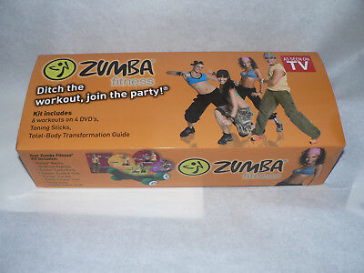 Zumba Fitness Kit complete with 2 Toning Sticks &Training CD Guide New