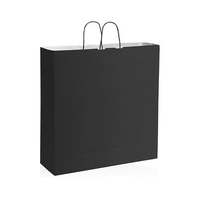 200 BUSTE IN CARTA COLORE NERO cm 45x20x48 shoppers buste negozi wedding bags