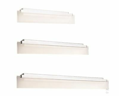 LED Vanity Wall Light With Stunning Modern Chrome Finish And Frost/clear Glass
