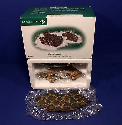 Department 56 Village Accessories SLATE STONE PATHS, CURVED Set of 4