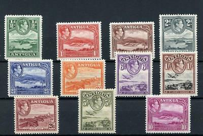 Antigua 1938-51 short set to 10s SG98/108 MNH/MM - values to 1s are MNH