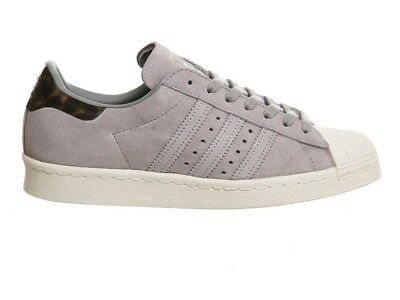 check out 4d454 7ce33 ADIDAS SUPERSTAR 80S Grey Suede Size 4 36.5 Womens Trainers Originals  Gazelle
