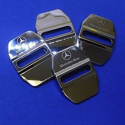 Stainless Steel Car Door Lock Ring Protective Cover For Mercedes Benz #U7