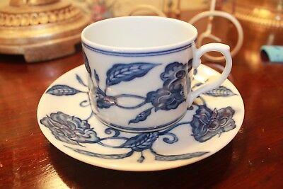 MAJOR CREDIT CARDS ACCEPTED Mottahedeh PALACE BLUE cup and saucer