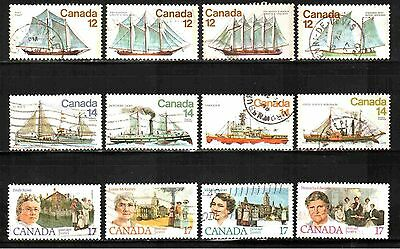 Canada 1976-1981 Collection 3 Sets Used Lt-P262.9