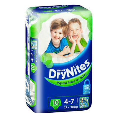 NEW Huggies DryNites Pyjama Pants for Boys 4 Plus - 10 Pack