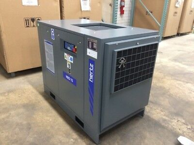20 HP Hertz Rotary screw air compressor with dryer