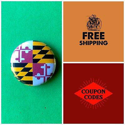 Maryland State Flag Button Pin, us united states America USA buttons pins flags