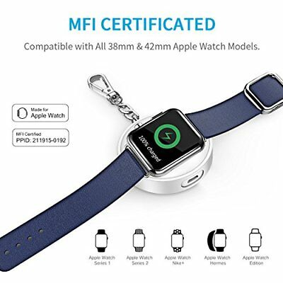 Apple Watch Series 3 Portable Charger 900mAh Power Bank 38 42mm iWatch Keychain