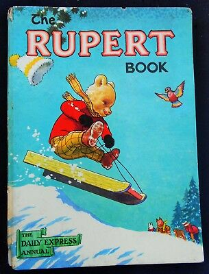 Vintage Original 1956 Rupert Bear Annual, Unscribed/price Unclipped 4/6