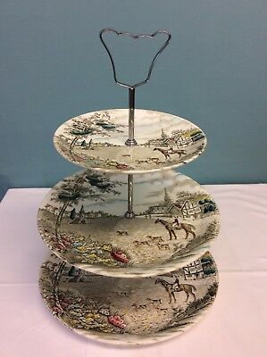 BRITISH ANCHOR 'VILLAGE GREEN' 3 TIER CAKE STAND (ref 4)