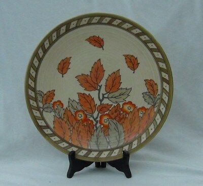 "1930s Crown Ducal Autumn Leaves 12.5"" Charger Plate - Charlotte Rhead"