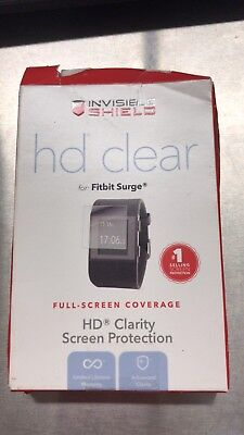 Zagg Invisible Shield HD clarity Full Screen Protection for FitBit Surge