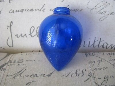 Old Cobalt Blue Lightning Rod Ball Pendant