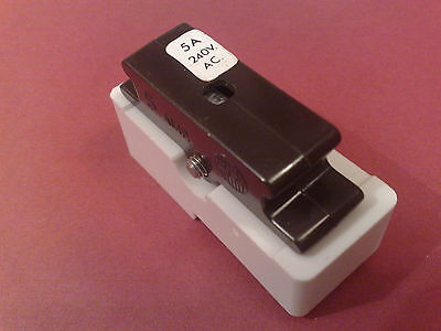 Wylex 5 Amp Fuse & White Base 5A Cartridge Bs1361 C5 Wyc5 Standard Fuseboard