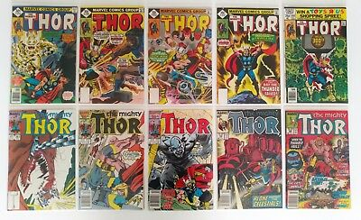 Lot of 20 Thor Comics F/VF (1977-1987, Marvel), Bronze/Copper [Bagged & Boarded]