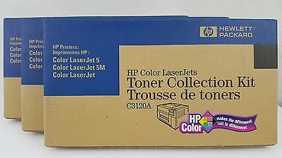 3 Genuine HP Color Laserjet Toner Collection Kit C3120A Sealed New in the box 3