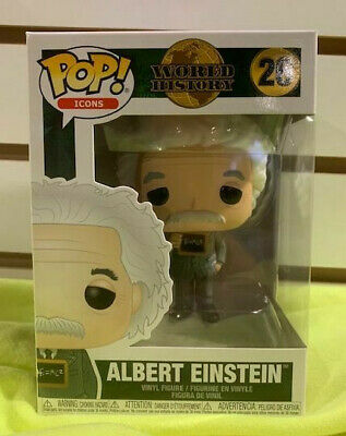 Albert Einstein Pop Icons History Vinyl Figure Funko New