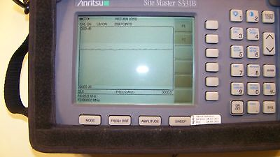Nice Anritsu S331B opt.5 Site Master w/case,New Screen,Battery,Charger Full Test