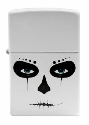 Zippo 28828 Skull Mask White Matte Finish Standard Size Lighter