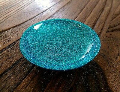 Ring Trinket Dish Resin Turquoise Mix Sparkly Glitter