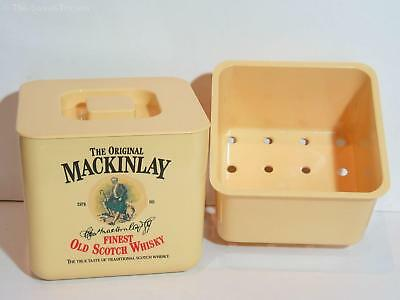 MacKinlay's Finest Old Scotch Whisky Ice Bucket + Liner. GC