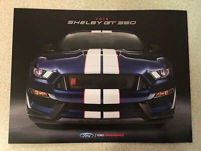 2018 Ford SHELBY GT 350 Original Sales Brochure