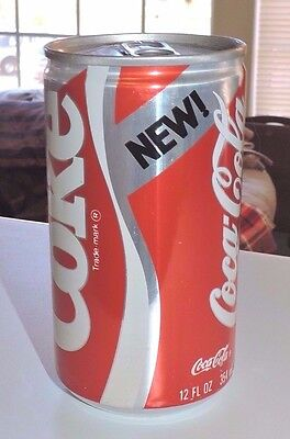 "Rare Unopened Original 1985 New Coke Pull Tab 12 Oz Can  ""  Nice  """