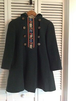 Vintage girls wool coat