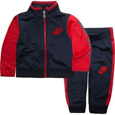 NIKE Boys size 5 Athletic two piece blue/red new with tags