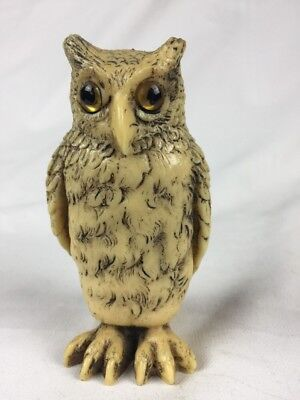 Vintage Celluloid Owl Figure Made In England