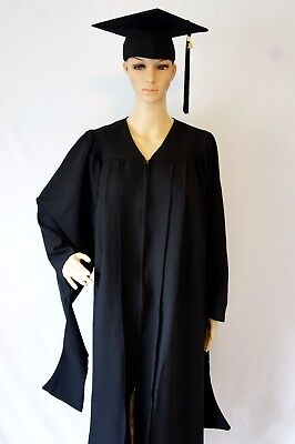 Master Degree Graduation Cap and Gown with 2017 Year Charm
