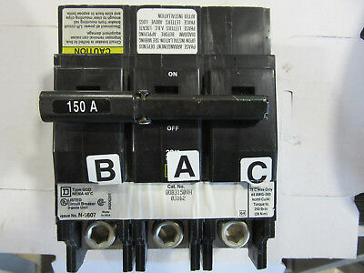 Square D QOB3150VH Circuit Breaker 3P 150A VGC!!! With Free Shipping