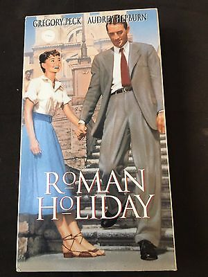 Roman Holiday New Sealed Vhs 1992 Gregory Peck, Audrey Hepburn