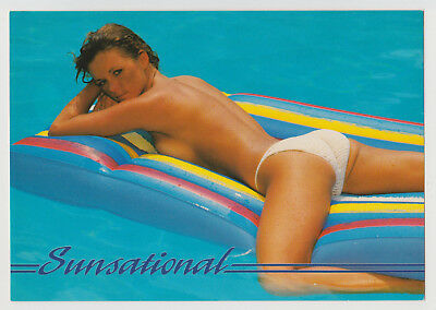 Postcard Nude Sexy Beach Girl Topless Breast SUNSATIONAL Vintage Post Card 7774