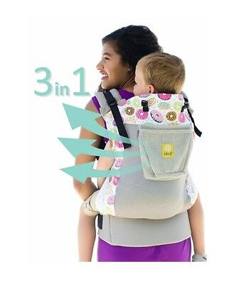 LILLEbaby Toddler/Baby Carrier - 3 in 1 CarryOn - Air - Mist w/ Donut FREE S&H