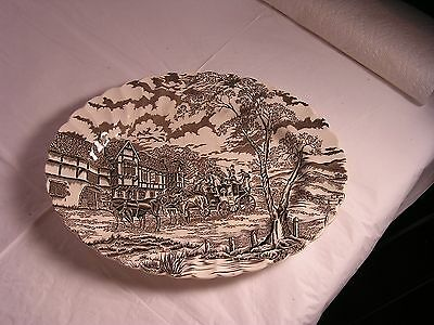 "Royal Mail Staffordshire Ironstone 12"" Oval Platter Excellent Condition"