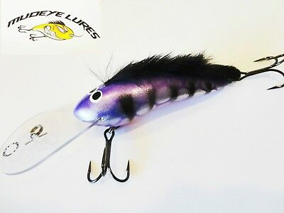 Timber Lure Mudeye Lures Mohawk Cod/Barra Lure 130mm col;purple