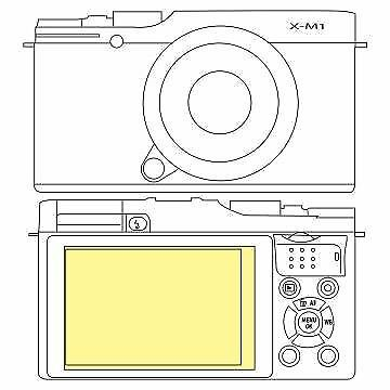 Martin Fields Overlay Plus Screen Protector (FujiFilm X-M1)