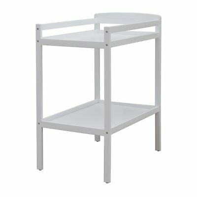 Childcare Bristol White Wooden Baby Change Table 2 Tier