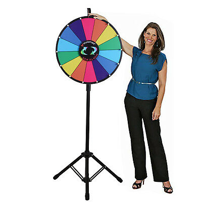 Voilamart 18 Inch Tabletop Color Prize Wheel With Folding Tripod Floor Stand
