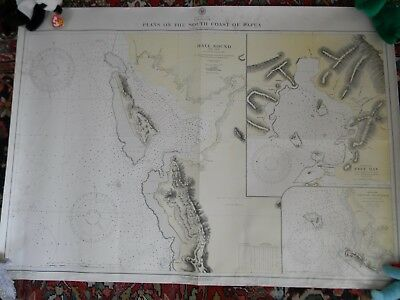 SEVEN WORLD WAR TWO US NAVY CHARTS of NEW GUINEA & SOLOMON ISLANDS