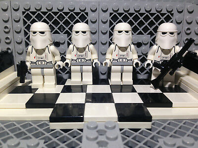 Lego Star Wars Lot of 4 Imperial Snowtrooper Minifigures w/ Blasters Hoth Army!+