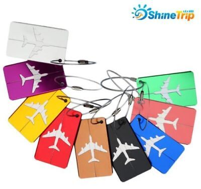 Aluminium Travel Luggage Baggage Tag Suitcase Identity Address Name Labels