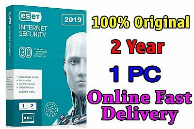 ESET INTERNET SECURITY 2019 Original 1 PC 2 year license product key Fas Deliver