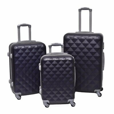 Brand New 3Pc Light Weight Luggage Suitcase Set Carry On Hard Case Trolley