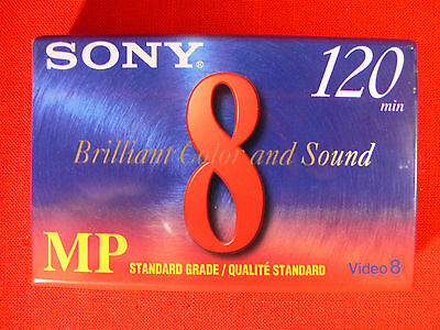 Sony 8MM MP120 Blank Video 8 Camcorder Video Cassette Tape - P6-120MP - NEW