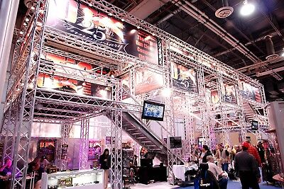 Trade Show Booth, Trade show display, Aluminum Space Truss 20x20'-20x70' adapts!