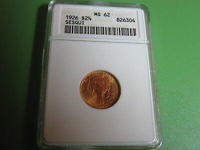1926 $2.5 Gold Sesquicentennial of American Independence ANACS MS62