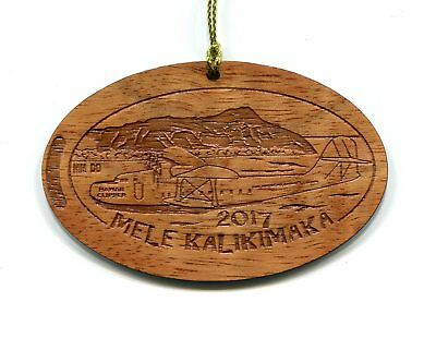 Mele Kalikimaka 2017 KOA WOOD Ornament from Elongated Cent Design